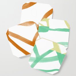 Abstract Map Nr. 3 tri-color Coaster