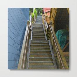 Old Cape Cod Stair Steps Metal Print