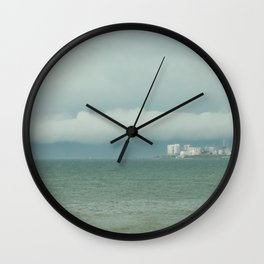 Storm in the sea. Wall Clock