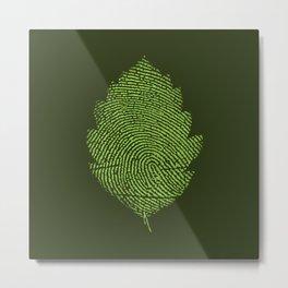 Leafprint Metal Print