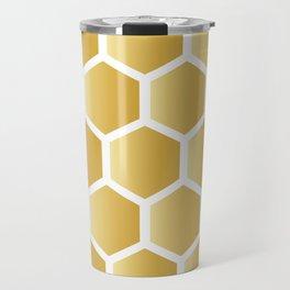 Honeycomb pattern - gold Travel Mug
