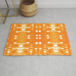 Shibori City Orange Rug