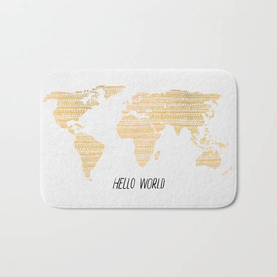 Hello World Bath Mat