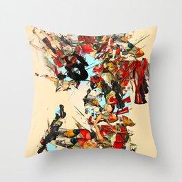 non-headed trogon Throw Pillow