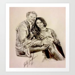 Meghan Markle & Prince Harry Art Print