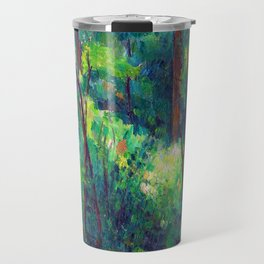 Paul Cezanne Interior of a Forest Travel Mug