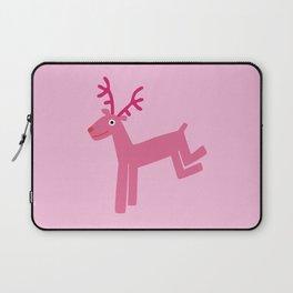 Reindeer-Pink Laptop Sleeve