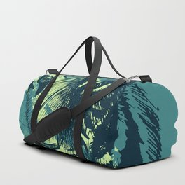 Abstract Grunge Wild Tiger Duffle Bag
