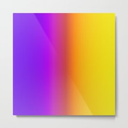Yellow and Purple Saturated Gradient 006 Metal Print