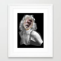 geode Framed Art Prints featuring Geode Marilyn by hunnydoll
