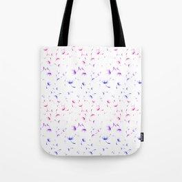Dandelion Seeds Bisexual Pride (white background) Tote Bag