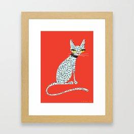 Wild House Cat Framed Art Print