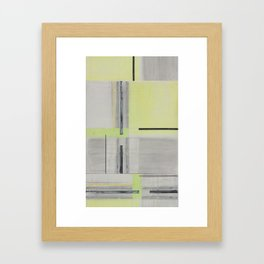 GreenGray Paint Framed Art Print