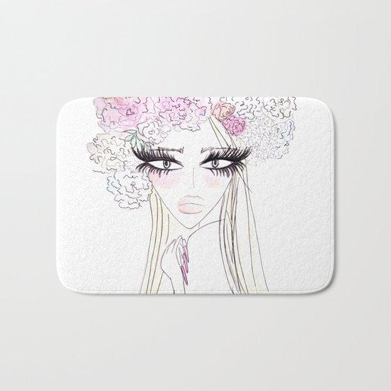 Floral girl Bath Mat