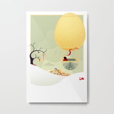 The Magic Balloon Metal Print
