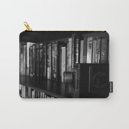 CHARLOTTE'S BOOKSHELF 3 IN BLACK AND WHITE Carry-All Pouch