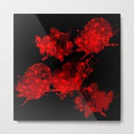 Nuclear Red Skulls Metal Print
