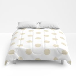 Polka Dots - Pearl Brown on White Comforters