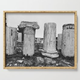 Ruined columns at the Parthenon Serving Tray