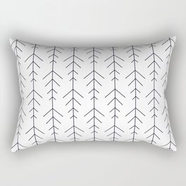 Minimalistic simple line arrows black and white Rectangular Pillow