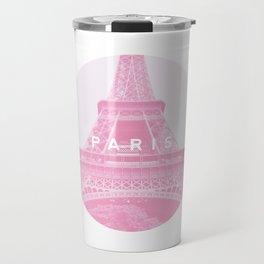 Pink Eiffel Tower, Paris Travel Mug