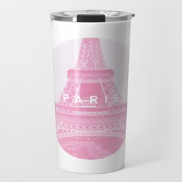Pink Eiffel Tower, Paris Travel Mug