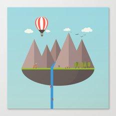 Flat island  Canvas Print