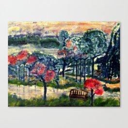 Blue Tree Park Canvas Print
