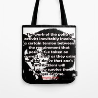 political Tote Bags featuring Angela Davis - The Political Activist by AfrocentriqueAZ