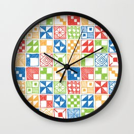 Square of Squares Wall Clock