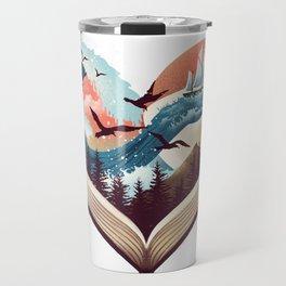 Coffee, Book and Adventure Travel Mug