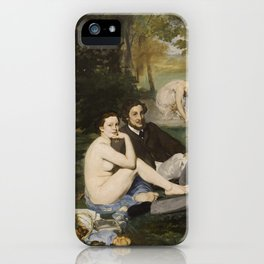 Edouard Manet, Luncheon on the Grass, 1863 iPhone Case