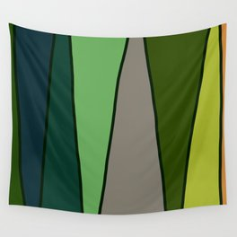 Green Abstract Pattern Turtle Wall Tapestry