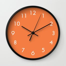 Celosia Orange Wall Clock
