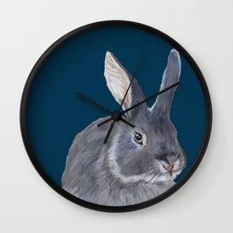 Little Grey Bunny Wall Clock