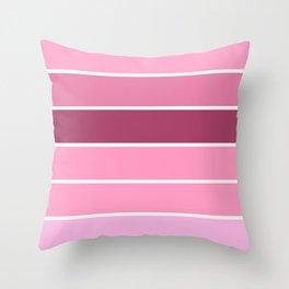 Bubblegum Pink Stripes Throw Pillow
