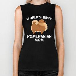 World's Best Pomeranian Mom Biker Tank