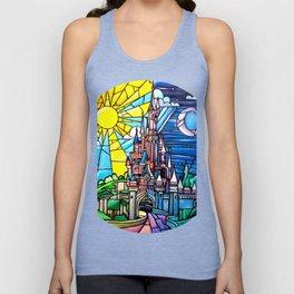 Sleeping Beauty's castle Unisex Tank Top