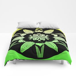 DK-145 (2009) Green and Yellow Comforters