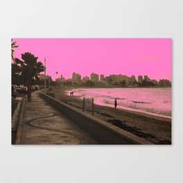 Sunset in San Juan pink Canvas Print
