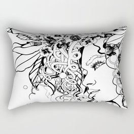 With Flowers in Her Hair No. 5 Rectangular Pillow