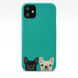 2 French Bulldogs iPhone Case
