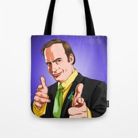 better call saul Tote Bags featuring Better Call Saul by Ryan Ketley