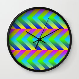 Colorful Gradients Wall Clock