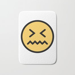 Smiley Face   Squeezing Look   Annoyed Face Bath Mat