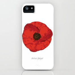 poppy .. lest we forget iPhone Case