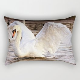 Elegant Swan Rectangular Pillow