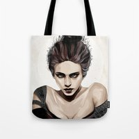 mother Tote Bags featuring Mother, dear by Feline Zegers
