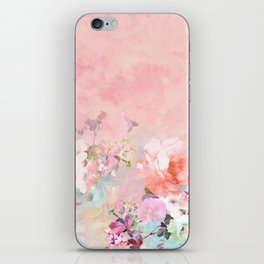Modern blush watercolor ombre floral watercolor pattern iPhone Skin