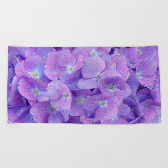 Hydrangea lilac Beach Towel